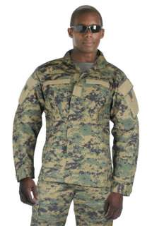 ACU Style Woodland Digital Camo Military Uniform Shirt, MARPAT