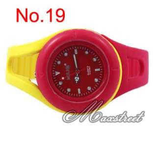 Fashion Candy Colors Girls Jelly Quartz Wrist Watch Casual Watch