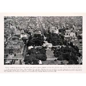 1931 Halftone Print Washington D. C. Cityscape White House