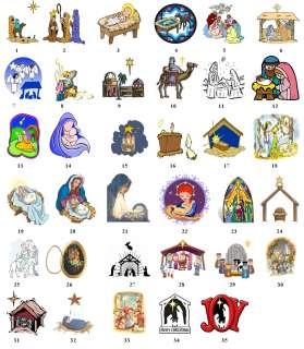 NATIVITY MANGER CHRISTMAS Return Address Labels Tags
