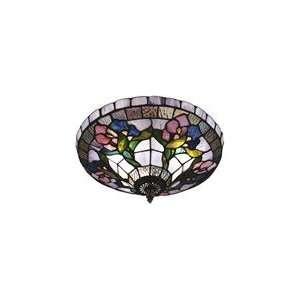 Dale Tiffany Art Glass Hollyhock Flush Mount Light