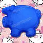 New Silicone Pig Shape Tray Bakeware Cake Soap Half Mold Mould Pan