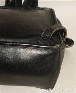 COACH Drawstring Backpack Bag in Black Leather, Style No. 9960, Great