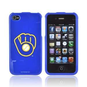 For Apple iPhone 4S 4 Milwaukee Brewers MLB Hard Plastic