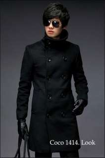 2011 NEW Mens Korean Classic Fashion Double Breasted Long Trench Coat