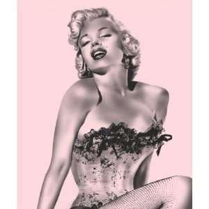 Marilyn Monroe Pink Fishnet Queen Size Mink Luxury Plush