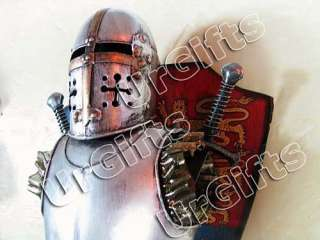 Medieval Knight Armor Vintage Hand Made Metal Decor B