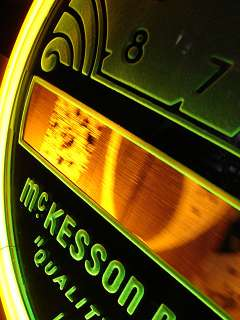 McKesson Products Neon Advertising Clock Art Deco Machine Age RX Old