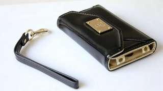 1X iPhone 4 / 4S Luxury Leather Wallet Clutch Card Slot Flip Case