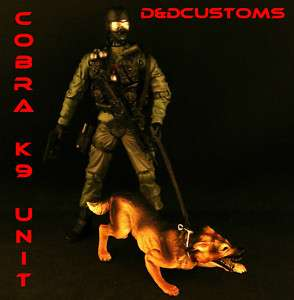 CUSTOM GI JOE MCFARLANE MILITARY SPECIAL FORCES K 9 CQB