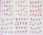 120x Nail Art Temporary Tattoos Stickers new 019