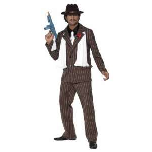 Smiffys Zoot Suit Fancy Dress Costume, Brown And White