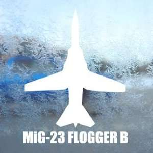 MiG 23 FLOGGER B White Decal Military Soldier Car White
