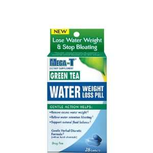 Mega T Green Tea Water Pill    28 ct.: Health & Personal