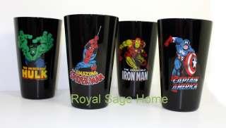 MARVEL Comics Hulk SPIDERMAN Iron Man Glass Tumblers S4