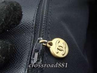 Chanel Black Caviar Skin Leather Shoulder Tote Bag Very Good