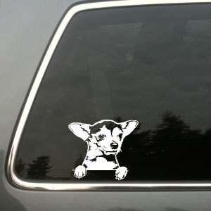 Chihuahua de car window macbook skin vinyl decal