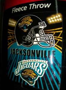 DELUXE POLAR FLEECE NFL JACKSONVILLE JAGUARS BLANKET