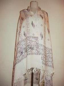 Sir Alistair Rai Tri Mantra white scarf Love Unity Fortune Silver Logo