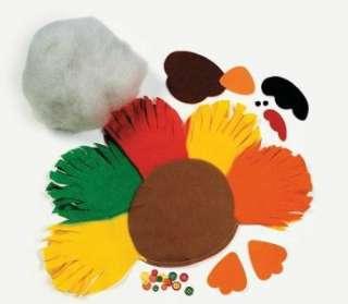 Fleece Turkey Tied Pillow Kit 17 Fall Thanksgiving