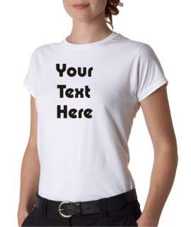 Womens Custom Personalized Text Heavyweight T Shirt Tee All Sizes