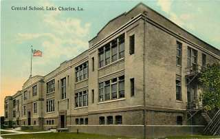 LA LAKE CHARLES CENTRAL SCHOOL FLAG TOWN VIEW T97197