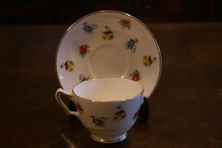 Crown Staffordshire Fine Bone China Cup & and Saucer Plate Dish Dishes
