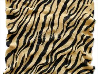 Womens Light Brown/Brown/White/Black Zebra Ruffle Long Scarf Shawl