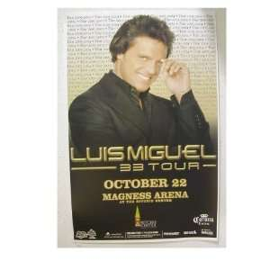 Luis Miguel handbill Poster Magness Arena