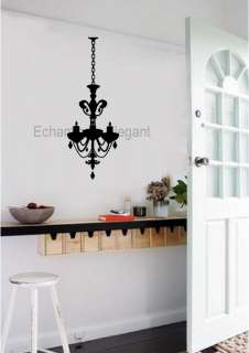 Chandelier Light Vinyl Wall Stickers Decal Dining Living Room Home