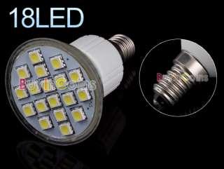 E14 3W 18 LED SMD 5050 6500K Cool White Light Bulb 110V