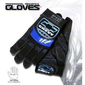 CHEVY LOGO PROFESSIONAL PIT WORK GEAR MECHANIC GLOVES SIZE
