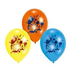 Mickey Mouse, Donald Duck & Pluto Latex 9 Balloons x 6