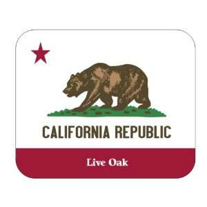 US State Flag   Live Oak, California (CA) Mouse Pad