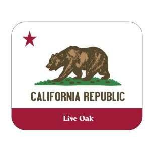 US Sae Flag   Live Oak, California (CA) Mouse Pad