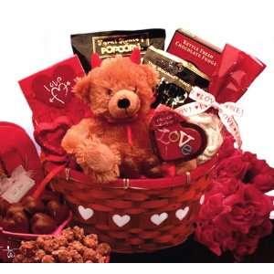 Little Devil Valentines Day Gourmet Candy Gift Basket
