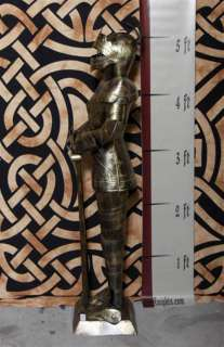 Foot GOLD Suit of Armor Knight   Long Sword Down