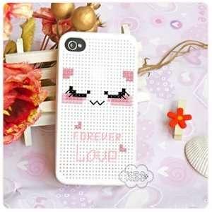 KEC DIY iPhone 4 Case Cross Stitch Case, Kitty Cell