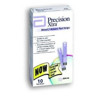 Precision Xtra Blood Ketone Test Strips   10 ea Health