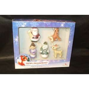 New Kurt Adler Rudolph Red Nosed Reindeer Porcelain Set