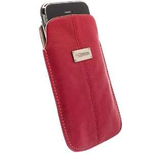 Krusell 95213 Luna Red/Sand Soft Leather Mobile Pouch