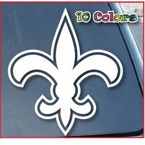New Orleans Saints Car Window Vinyl Decal Sticker 8 Tall