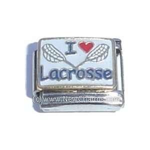 I Love Lacrosse Italian Charm Bracelet Jewelry Link Jewelry