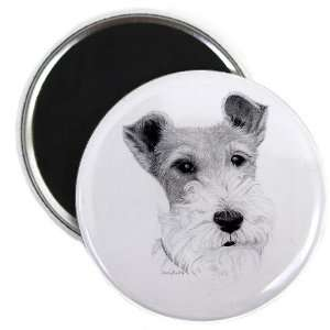 Wire Fox Terrier DOG Pencil Sketch Art 2.25 Fridge Magnet