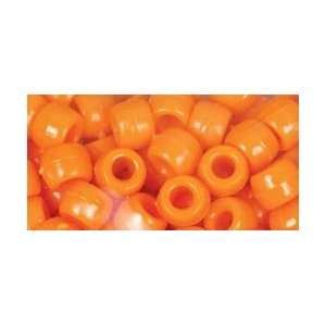 Cousin Beads Pony Beads Orange; 6 Items/Order: Arts