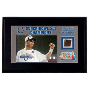 Colts Super Bowl Desktop Display w/Game Used Football