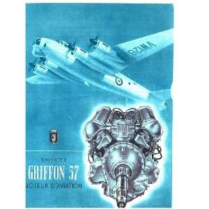 Rolls Royce Griffon 57 Aircraft Engine Brochure Manual Rolls Royce