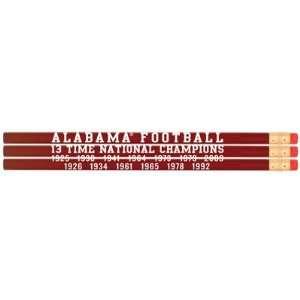 Alabama Crimson Tide National Champs Pencil Set