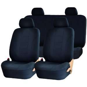 SC 102BK Black Racing Style Universal Car Seat Cover Set Automotive