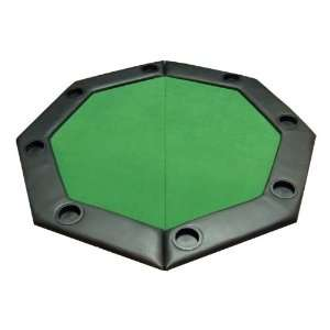 Padded Octagon Folding Poker Table Top w/ Cup Holders